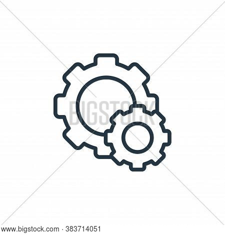 settings icon isolated on white background from seo and website collection. settings icon trendy and
