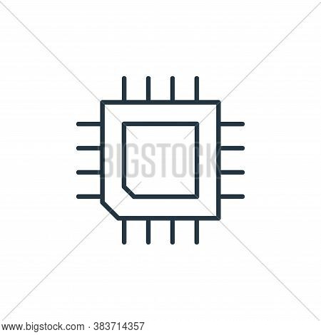 chip icon isolated on white background from smarthome collection. chip icon trendy and modern chip s
