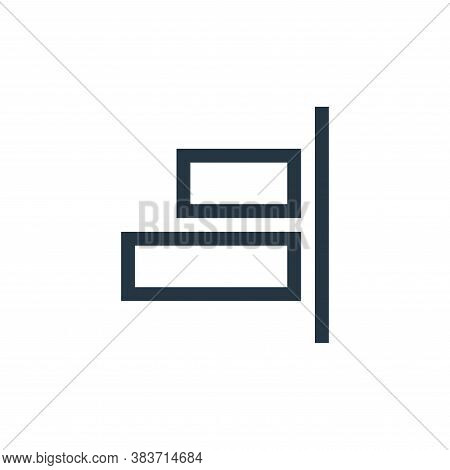 right align icon isolated on white background from vector editing collection. right align icon trend