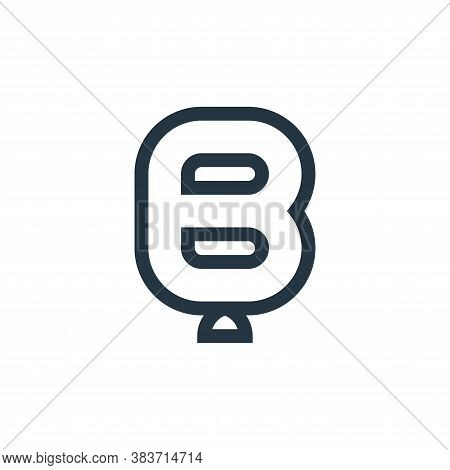 b shaped icon isolated on white background from baby shower collection. b shaped icon trendy and mod