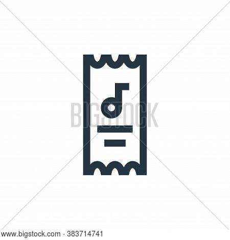music festival icon isolated on white background from music festival collection. music festival icon