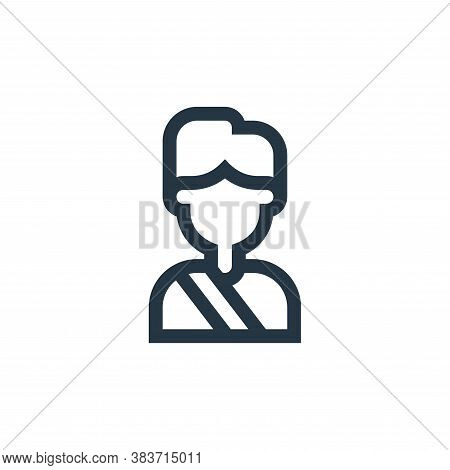 passenger icon isolated on white background from taxi service collection. passenger icon trendy and