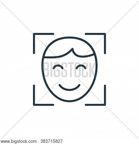 face scanner icon isolated on white background from smarthome collection. face scanner icon trendy a