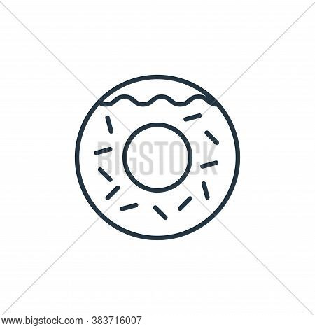 donut icon isolated on white background from bakery collection. donut icon trendy and modern donut s
