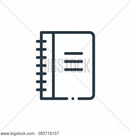 notebook icon isolated on white background from books collection. notebook icon trendy and modern no