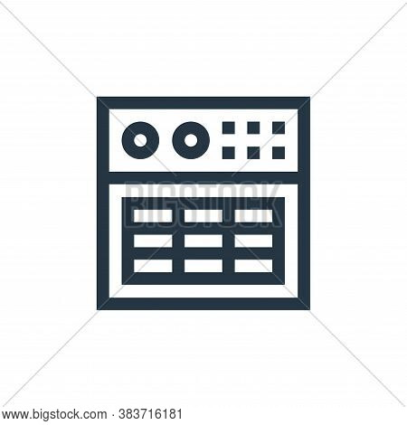 amplifier icon isolated on white background from music festival collection. amplifier icon trendy an