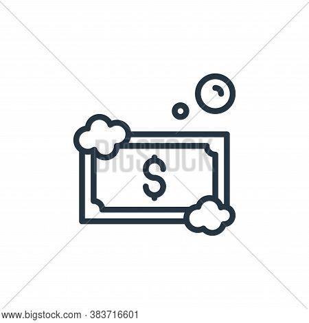 money laundering icon isolated on white background from crime collection. money laundering icon tren