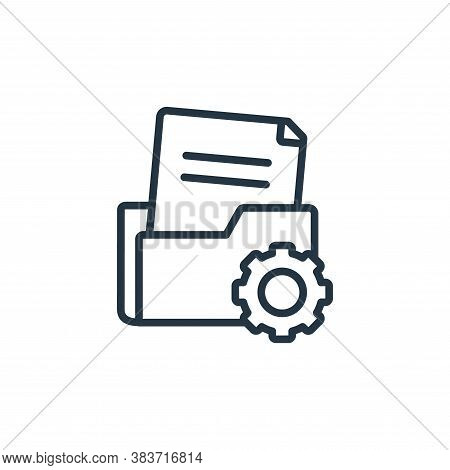 folder management icon isolated on white background from seo and website collection. folder manageme