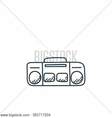 tape recorder icon isolated on white background from music collection. tape recorder icon trendy and