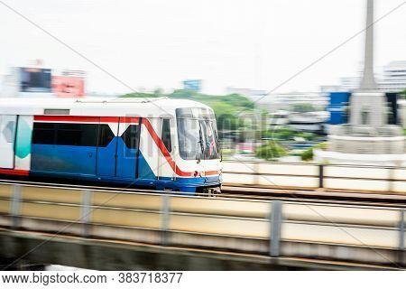 Bangkok Thailand - July 14, 2019: Bts Bangkok Skytrain - Commercially Usable, The Bangkok Mass Trans
