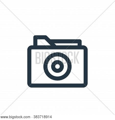 folder icon isolated on white background from disc tool line collection. folder icon trendy and mode