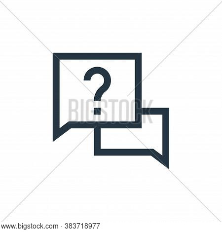 question icon isolated on white background from message collection. question icon trendy and modern