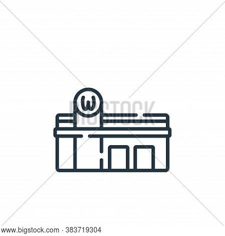restaurant icon isolated on white background from fast food collection. restaurant icon trendy and m