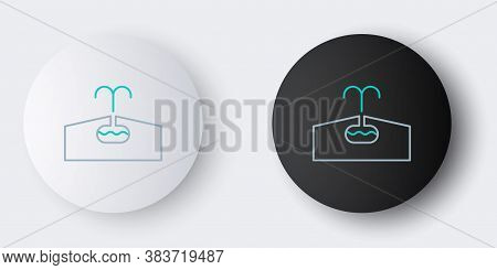 Line Oilfield Icon Isolated On Grey Background. Natural Resources, Oil And Gas Production. Colorful