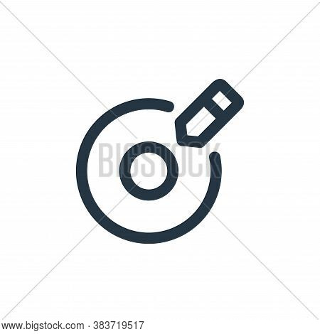 write icon isolated on white background from disc tool line collection. write icon trendy and modern