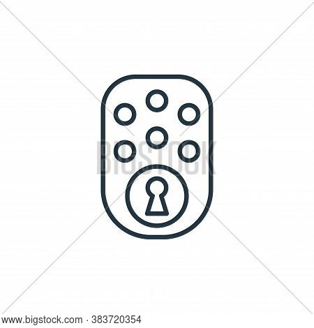 door lock icon isolated on white background from smarthome collection. door lock icon trendy and mod