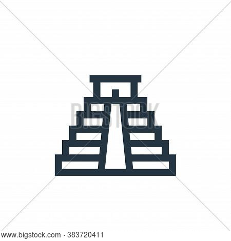 chichen itza pyramid icon isolated on white background from cinco de mayo collection. chichen itza p