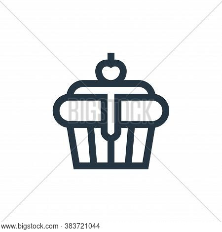 cupcake icon isolated on white background from baby shower collection. cupcake icon trendy and moder