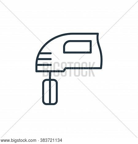 mixer icon isolated on white background from bakery collection. mixer icon trendy and modern mixer s