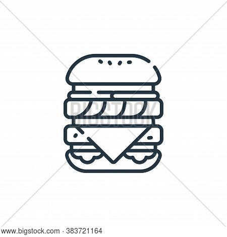 double burger icon isolated on white background from fast food collection. double burger icon trendy