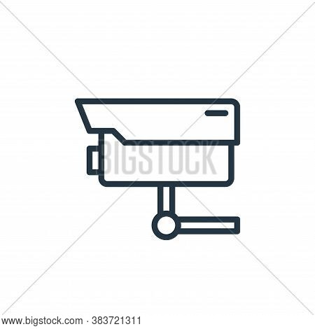 cctv icon isolated on white background from crime collection. cctv icon trendy and modern cctv symbo
