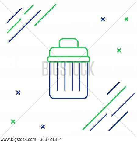 Line Trash Can Icon Isolated On White Background. Garbage Bin Sign. Recycle Basket Icon. Office Tras