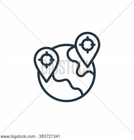 map pointer icon isolated on white background from seo and website collection. map pointer icon tren