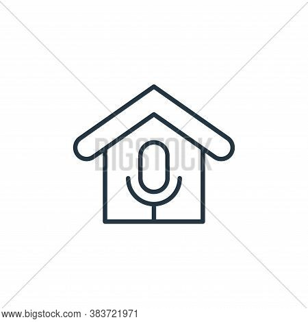 voice control icon isolated on white background from smarthome collection. voice control icon trendy
