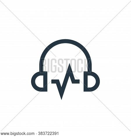 headphones icon isolated on white background from music festival collection. headphones icon trendy