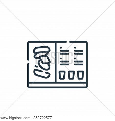 menu icon isolated on white background from fast food collection. menu icon trendy and modern menu s
