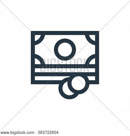 cash icon isolated on white background from economy collection. cash icon trendy and modern cash sym