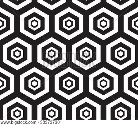 Black And White. Seamless Pattern. Abstract Psychedelic Art Background. Vector Illustration