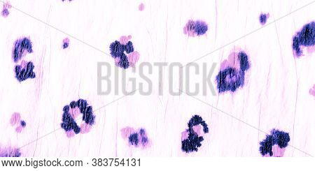 Animal Print Leopard. Zoo African Fashion Animal Background. Drawn By Hand Exotic Texture Design. Pu