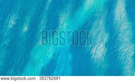 Blue Teal Ikat Pattern. Tie Dye Background. Abstract Paint Aquarel Spots. Dirty Art Graffiti. Ogee P