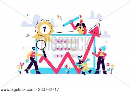Feedback Vector Illustration On White Background. Rating Of Work, Feedback From Customers. Opinion F