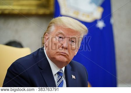 Washington Dc,united States,march 2020,american President Donald Trump Facial Expression