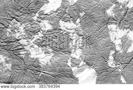 Old Shabby Paper. Grunge Style. Abstract Drawn Smear. Monochrome White And Grey Mud Illustration. Wa