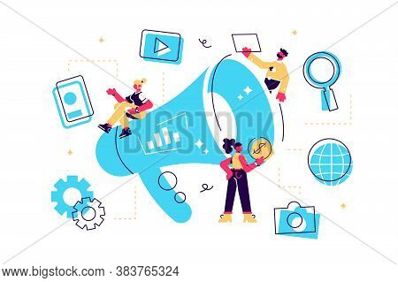 Concept Outbound Marketing For Web Page, Banner, Presentation, Social Media, Documents, Cards, Poste