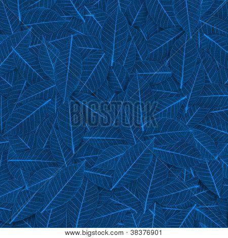 Blue Transparent Leaf Pattern