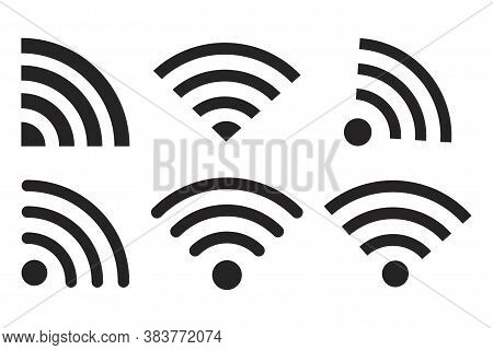Wi Fi Icons. Wireless Signal Vector. Wi-fi Wave Sign. Internet Connection Symbol. Wi Fi Graphic Icon