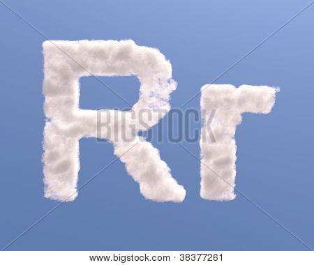 Letter R Cloud Shape