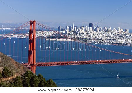 San Francisco Panorama from San Francisco Bay poster
