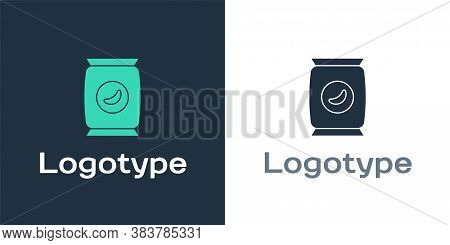 Logotype Bag Or Packet Potato Chips Icon Isolated On White Background. Logo Design Template Element.