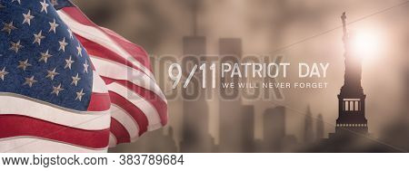 American National Holiday. Us Flag Background With American Stars, Stripes And National Colors. New