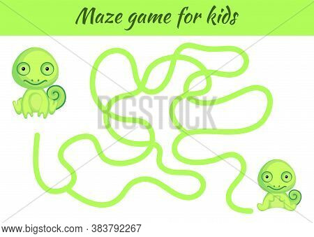 Funny Maze Or Labyrinth Game For Kids. Help Mother Find Path To Baby. Education Developing Worksheet