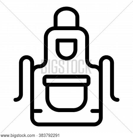 Kitchen Apron Icon. Outline Kitchen Apron Vector Icon For Web Design Isolated On White Background