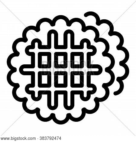 Homemade Waffle Food Icon. Outline Homemade Waffle Food Vector Icon For Web Design Isolated On White