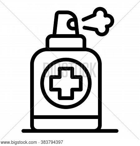 Antivirus Spray Icon. Outline Antivirus Spray Vector Icon For Web Design Isolated On White Backgroun