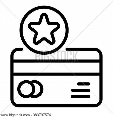 Bonus Credit Card Icon. Outline Bonus Credit Card Vector Icon For Web Design Isolated On White Backg