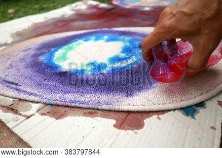 Carpet Colorful Dye , The Textile Sector Concept